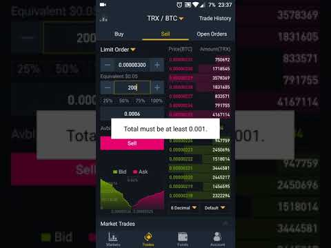How To Trade Using Binance Mobile App.