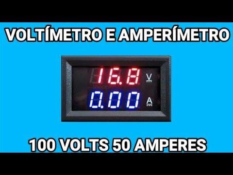 VOLTÍMETRO E AMPERÍMETRO 100 VOLTS 50 AMPERES COM SHUNT
