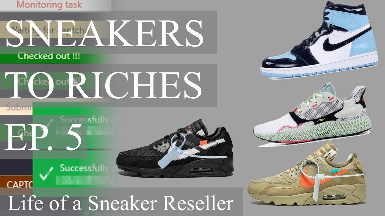 super popular 1fe14 26ce4 Sneakers To Riches Ep 5 - Off White Air Max 90, AJ1 UNC Patent, Adidas ZX  4000 4D Live Cop!