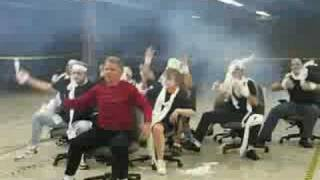 Office Olympics Chair Dancing to Thriller by FACL Chillers