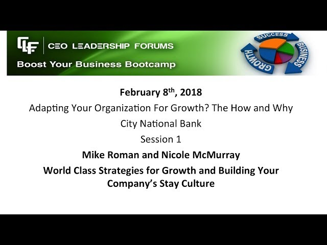 2018 02 08 CEO Leadership Session 1 Roman & McMurray