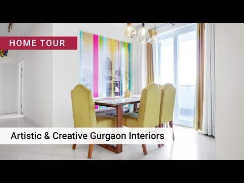 Quirky 3BHK Design by Livspace Interiors Gurgaon