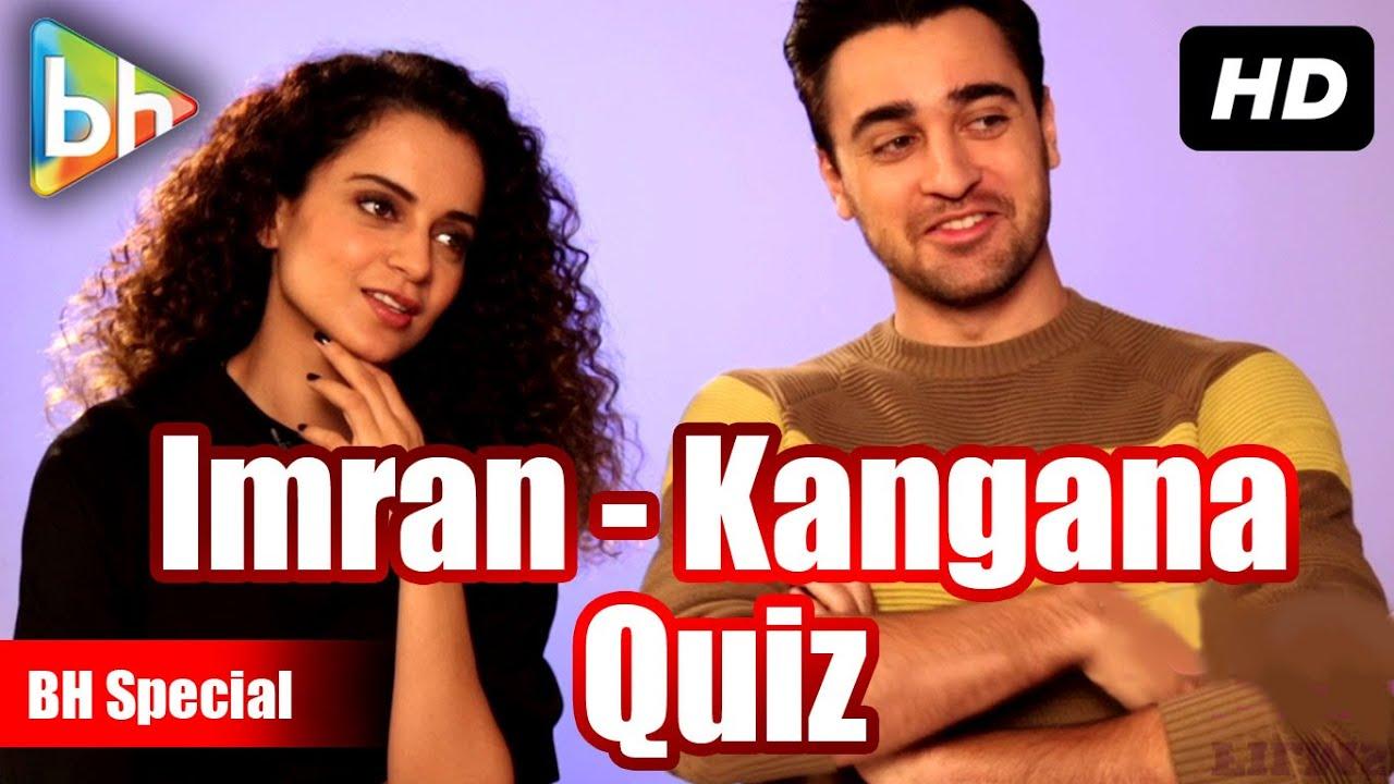 Katti Batti Quiz with Imran Khan   Kangana Ranaut   BH Special