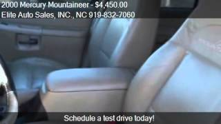 2000 Mercury Mountaineer Carfax 1 Owner for sale in Raleigh,