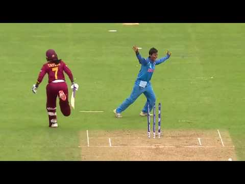 Mandhana runs out Stafanie Taylor! - #WWC17 Nissan Play of the Day