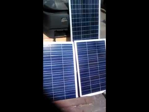 test inverter off grid system + solar panel 180wp without batteray