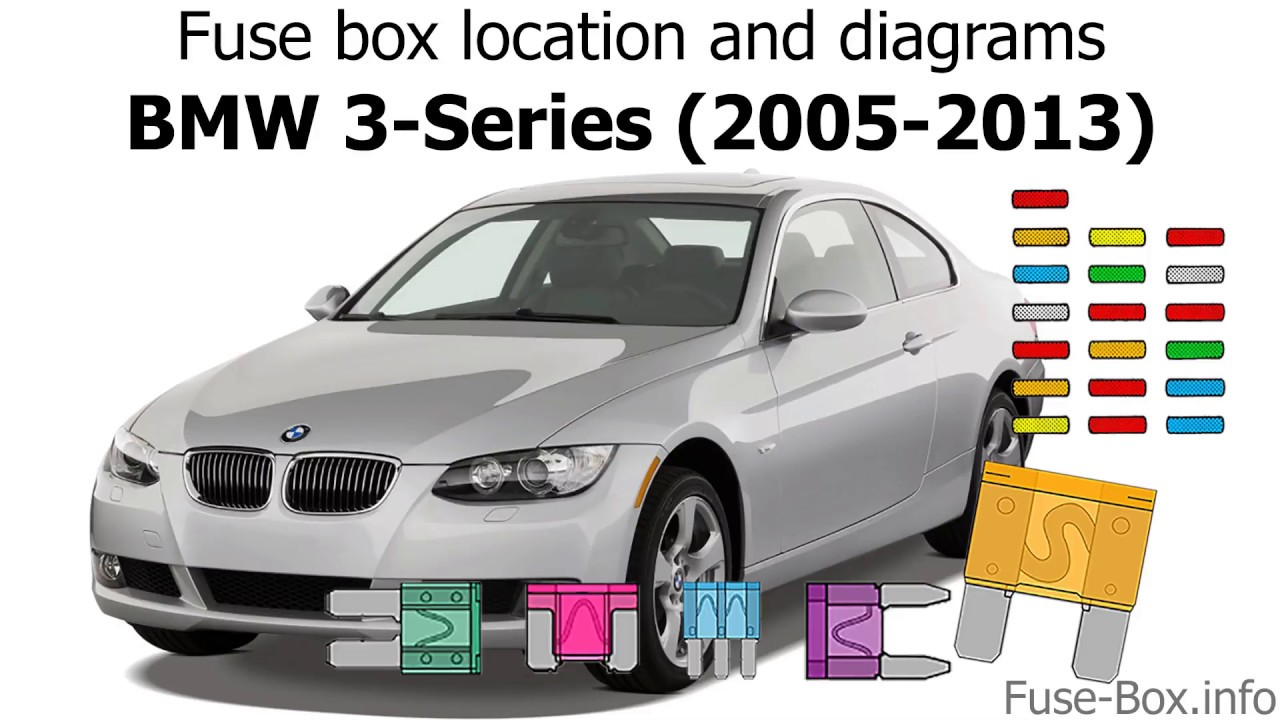 Fuse box location and diagrams: BMW 3-Series (E90/E91/E92/E93; 2005-2013) -  YouTube 2005 Bmw Fuse Box YouTube