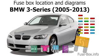 Fuse box location and diagrams: BMW 3-Series (E90/E91/E92/E93; 2005-2013) -  YouTubeYouTube