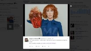 Kathy Griffin and Trump's Head