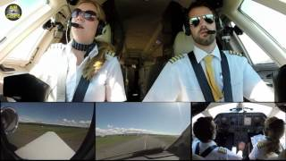 Hahn Air ULTIMATE COCKPIT MOVIE 3 / 3 MULTICAM! Full ATC to Düsseldorf [AirClips full flight series]