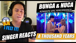 NUCA and BCL - A Thousand Years | SINGER REACTION