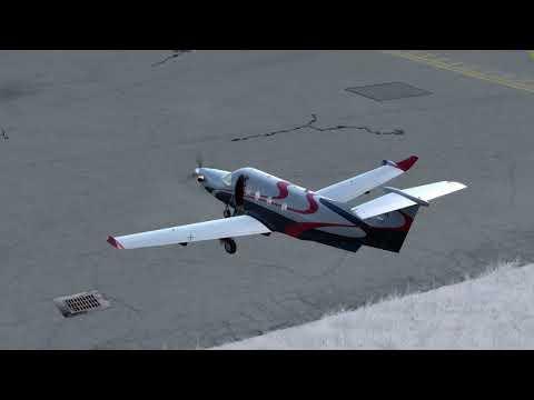 [Prepar3Dv4.2] Flight Simulator 2018 Pilatus PC12 From Turin LIMF to Saanen LSGK