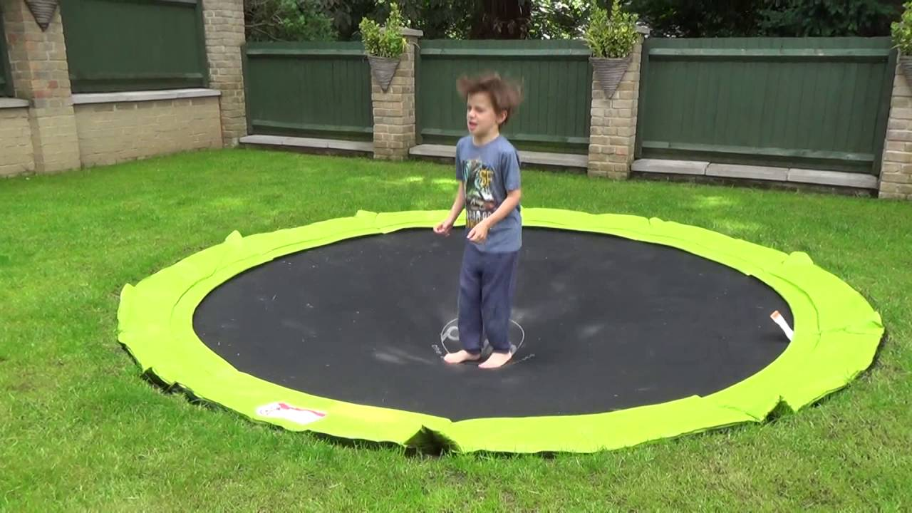 plum in ground sunken trampoline youtube. Black Bedroom Furniture Sets. Home Design Ideas