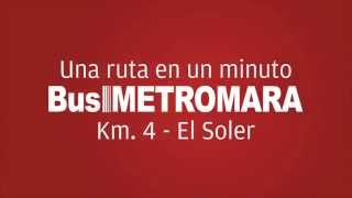Rutas del Bus MetroMara  (Km 4 - El Soler)