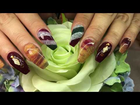 How to Create Easy Simple Holiday Designs With Polaris Dipping Nail System