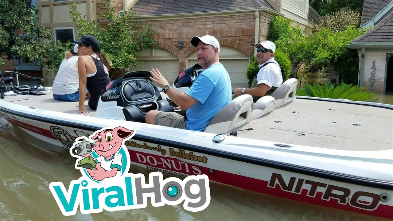 Funny Video: Boating Through a Neighborhood Under Water