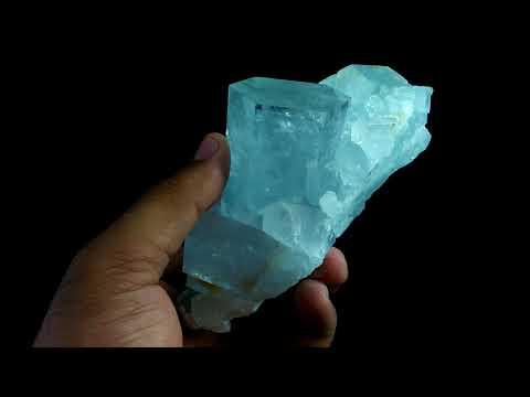 See Vdo~506 Gram~Terminated~Gemmy~Undamage Sky Blue Aquamarine Mineral Specmen