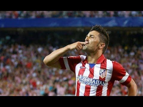 Goal David Villa - Atletico Madrid 1-0 Barcelona HD - Spanish Super Cup 21/8/2013