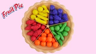 Learn colors with sorting fruit pie