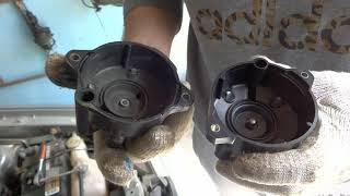 Замена крышки трамблёра и бегунка на Mazda Demio
