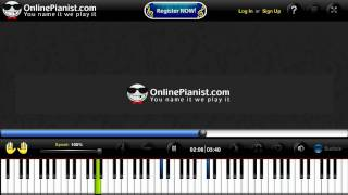 Celine Dion - My Heart Will Go On Piano Lesson 100% Speed