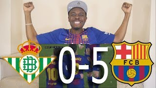 Real Betis VS Barcelona 0-5 ● All Goals Reaction