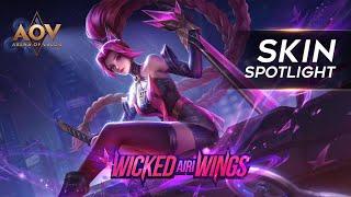 Airi Wicked Wings Skin Spotlight - Garena AOV (Arena of Valor)