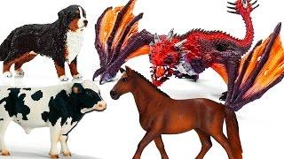 ЖИВОТНЫЕ. Драконы нападают на Домашних Животных Мультик про животных и драконов на русском Игрушки