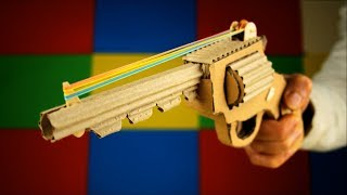 How to Make Rubber Band Pistol that Shoot One by One