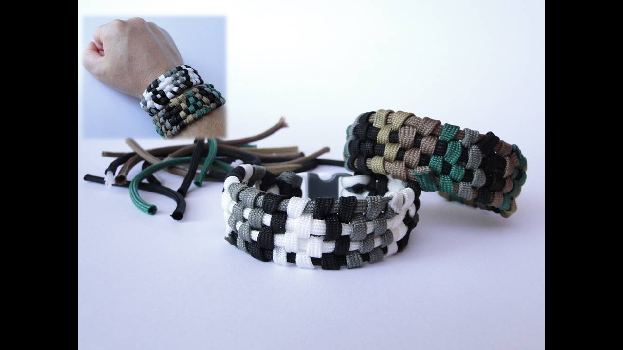 How To Make A Digital Camo Paracord Bracelet From Ss Bonus Join Gutted Cords