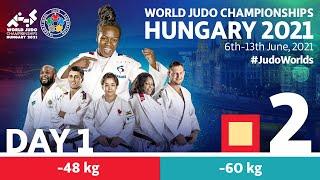 Day 1 - Tatami 2: World Judo Championships Hungary 2021
