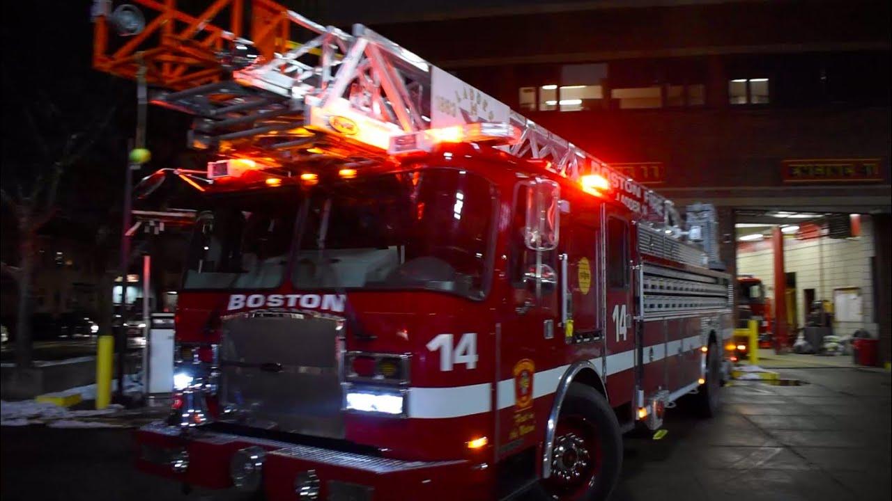 Boston Fire Ladder 4 Spare Responding - YouTube