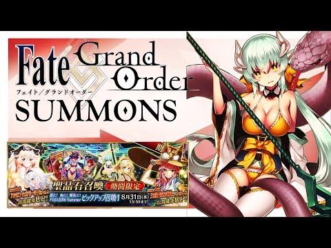 [ATTEMPT 3] Fate/Grand Order Summons - FGO Summer 2018 Campaign I156 Quartz & 8 Tickets w/Zayence
