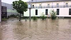 Hochwasser 2013 in Döbeln am Kino
