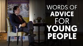 Words of Advice For Young people - Joo Kim Tiah