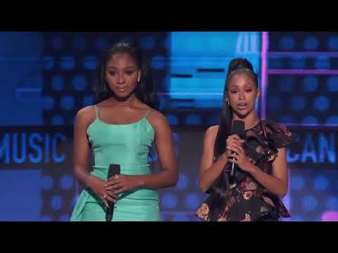 Normani present at the American  Awards with Liza Koshy AMAs