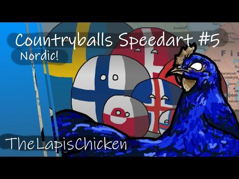 Countryballs Speedart #5 | Nordic!