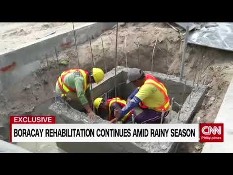 [EXCLUSIVE] Boracay rehabilitation continues amid rainy season