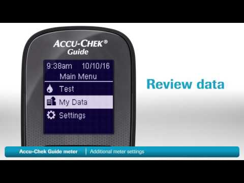 Accu-Chek Guide - Additional meter settings