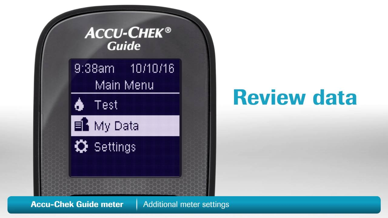 accu chek guide additional meter settings youtube
