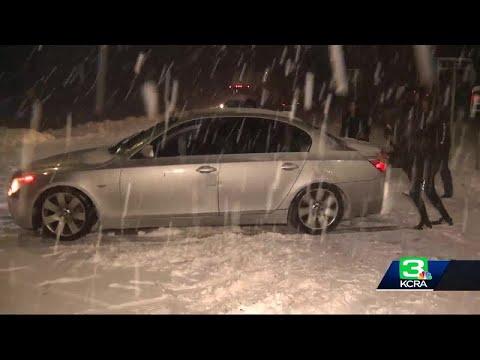 Snow Slows Sierra Traffic