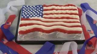 Cake Recipes - Flag Cake