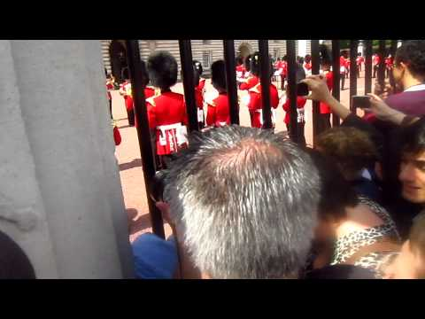 Buckingham palace guards orchestra playing 'What a feeling'