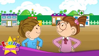 Hi. Hello. Good bye. (Greeting song) - English kids song - Let