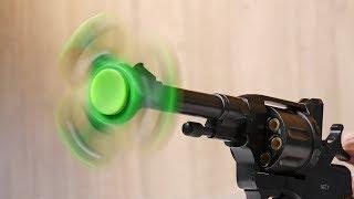 EXPERIMENT GUN VS FIDGET SPINNER