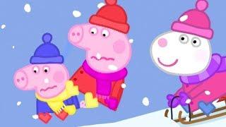 Peppa Wutz ⛄ Schlittenfahrt! ⛄ Peppa Pig Deutsch Neue Folgen   Cartoons für Kinder