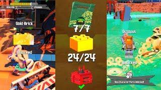 The LEGO Ninjago Movie Video Game Ninjago City Docks 100% Walkthrough Guide (All Collectibles)