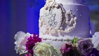 Свадебный торт с подсветкой и подвесками.