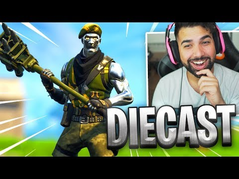 "NEW FORTNITE ""DIECAST"" Skin Gameplay.."