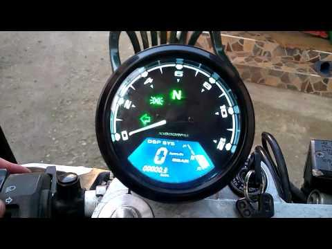 FZS600 Fazer with eEbay universal speedometer - YouTube
